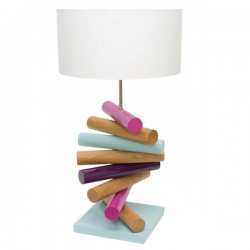 Lampe bois naturel Colorwood