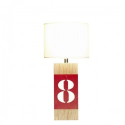 Lampe bois naturel Number S