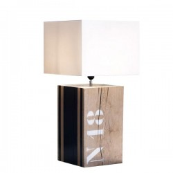 Lampe bois naturel Number XXL