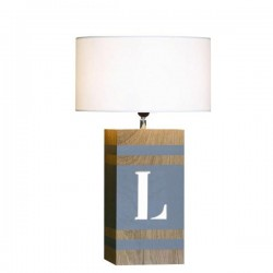 Lampe bois naturel Word L