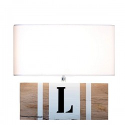 Lampe bois naturel BrickWord L