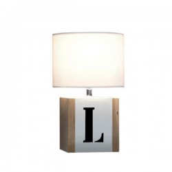 Lampe bois naturel BrickWord S