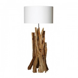 Lampe design bois naturel Tundra