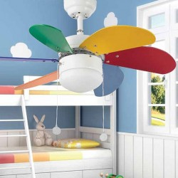 Lampe ventilateur plafond Color