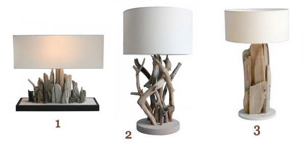 Lampes A Poser En Bois Flotte L Atout Deco Nature